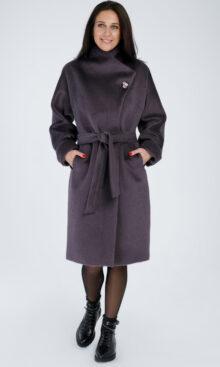 Пальто женское из смеси шерсти и шерсти альпаки