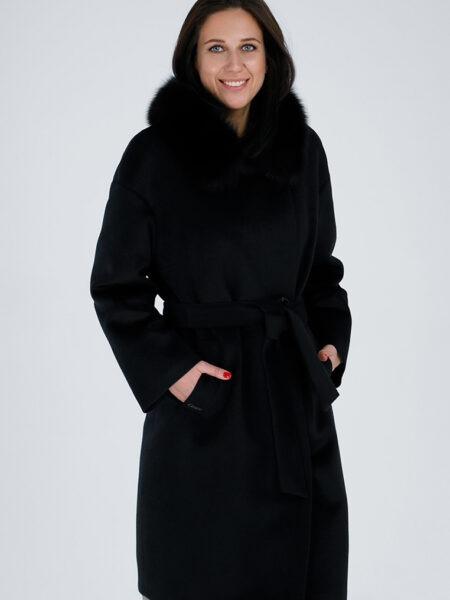 Пальто женское зимнее из 100% шерсти