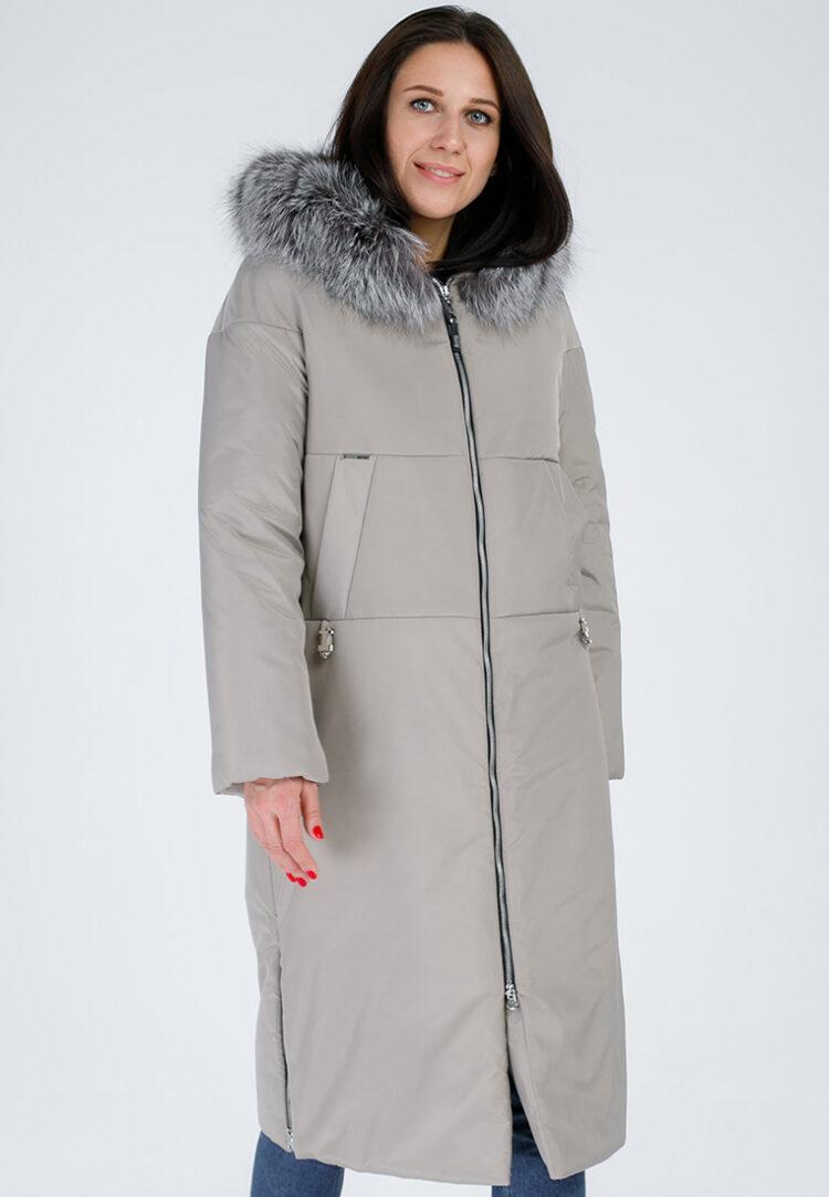 Пальто женское зимнее с утепленной T-зоной