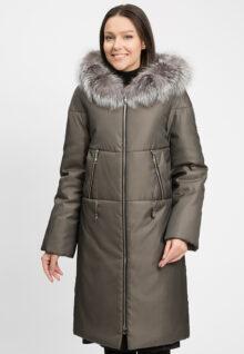 Пальто женское зимнее с утепленной T-зоной 1