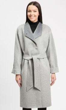 Пальто женское осеннее из 100% шерсти